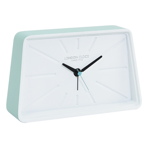 Topic Silent Alarm Clock Mint Green 17cm by London Clock Company