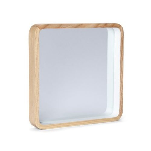 Taina Natural Wood Square Mirror by Oak and Ash 25cm