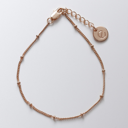 Ivy chain bracelet (Rose Gold) by Enviie