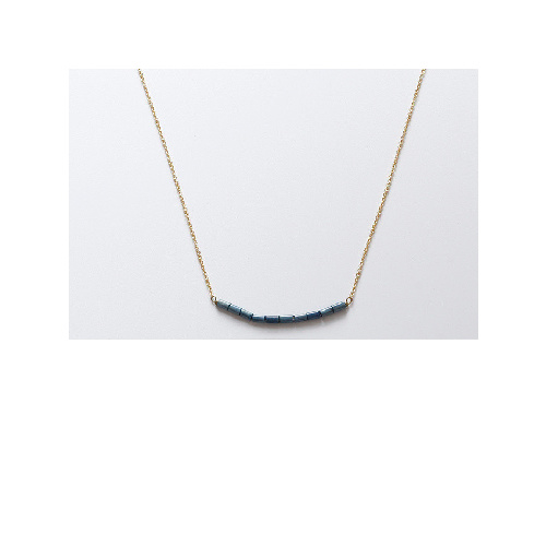 Jessica Necklace (Mid Blue long bead) by Enviie