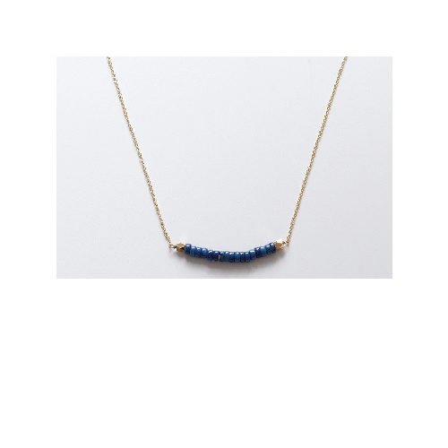 Sharon Necklace (Blue rondel) by Enviie