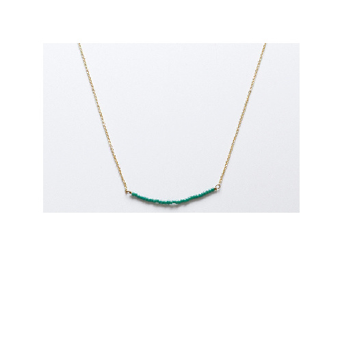 Nina Necklace (Green mini beads) by Enviie