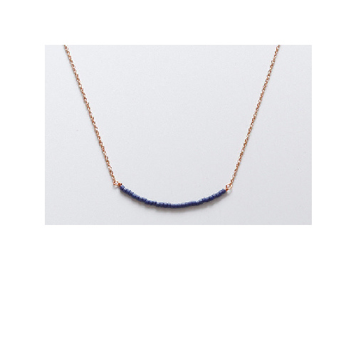 Melinda Necklace (Navy mini beads) by Enviie
