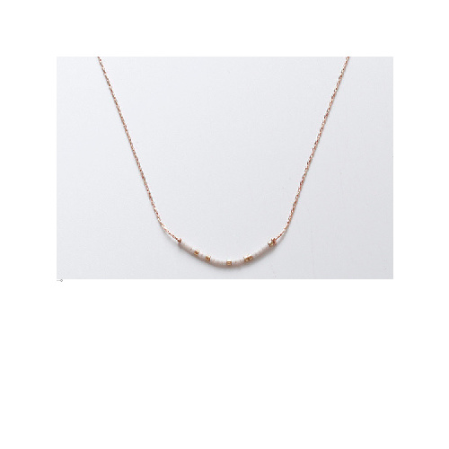 Elle Necklace (White + Rose Gold) by Enviie