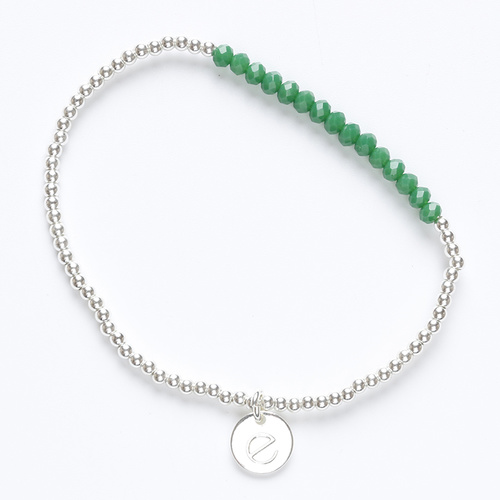 Paris bracelet (silver and green) by Enviie