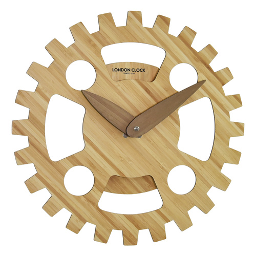 Wood Cogs Wall Clock 36cm by London Clock Company