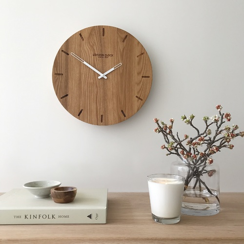 Eldis Solid Wood Wall Clock 33cm by London Clock Company