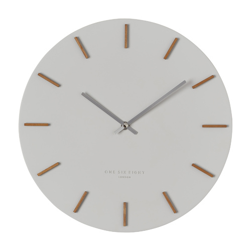 Ivy - 35cm Cool Grey Silent Wall Clock