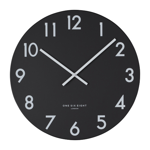 JACKSON Black 40cm Silent Wall Clock