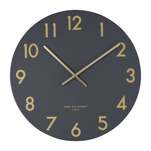 Jones Charcoal Grey 30cm SILENT Wall Clock