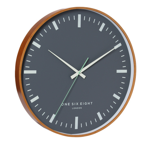 Helene Wooden SILENT SWEEP Wall Clock 51cm