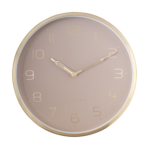 LILY 30cm Dusty Rose Silent Wall Clock
