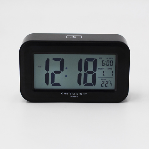 Rielly - Black DIigital Rectangle  Alarm Clock