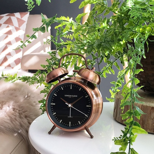 Blaze Copper Alarm Clock by London Clock Company