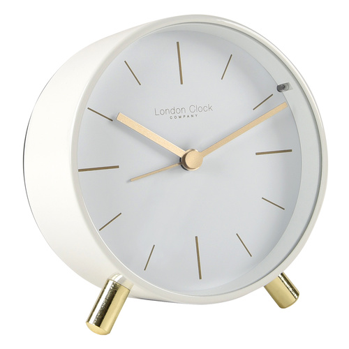 Maisie Pure White Alarm Clock by London Clock Company