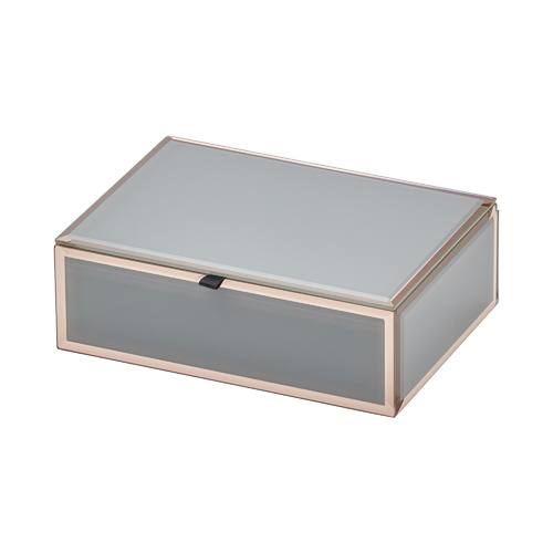 FLORENCE Grey / Rose Gold Medium Jewellery Box