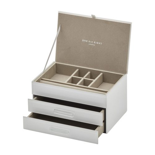 GABRIELLA White Medium Jewellery Box