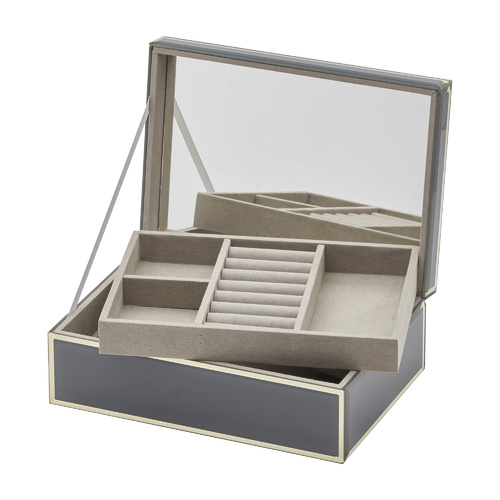 SARA Grey Large Jewellery Box