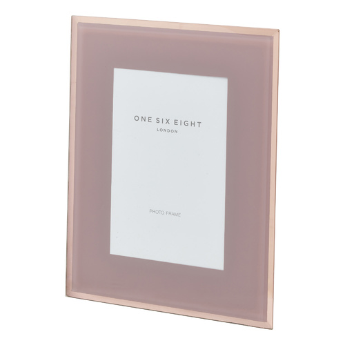 7 x 5 Dusty Rose Glass Photo Frame