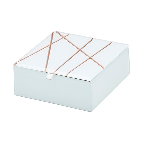 Geo Rose Gold Small Jewellery Box