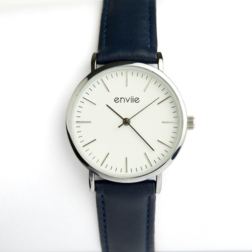 Navy / Silver Classic Watch by Enviie