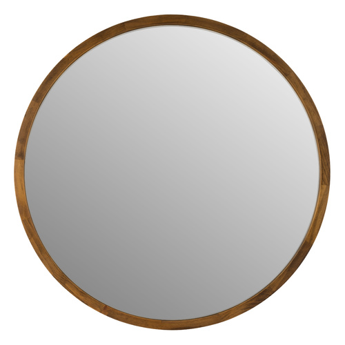 TINA 60cm Dark Wood Solid Wood Mirror