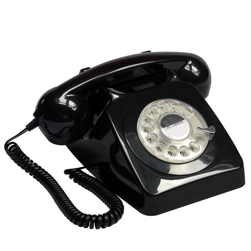 GPO 746 traditional rotary dialling telephone black