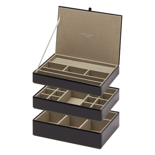 Stackable Jewellery Box Set - Black