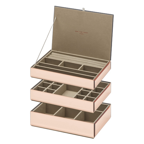 Stackable Jewellery Box Set - Rose Gold